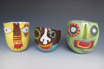 Pinch Pots with Faces