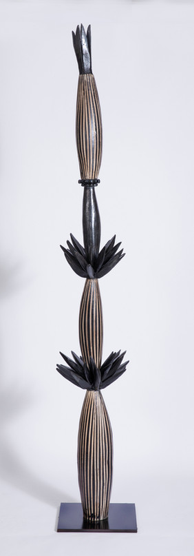 Leaf Totem with Stripes & Spikes