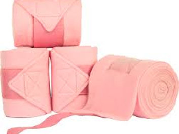 HKM  Polar Fleece Bandaging Set of 4 - Pink
