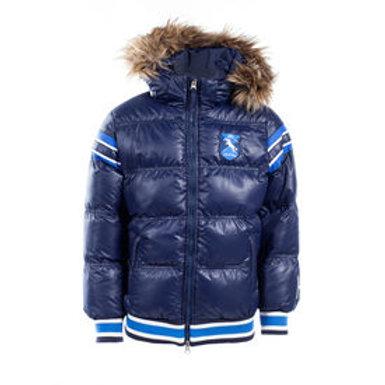 Horze Kids & Ponies Scout Padded Jacket with Fur Hood Dark Blue