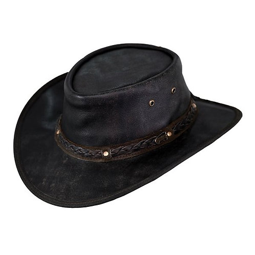 Unisex Leather Iron Bark Hat
