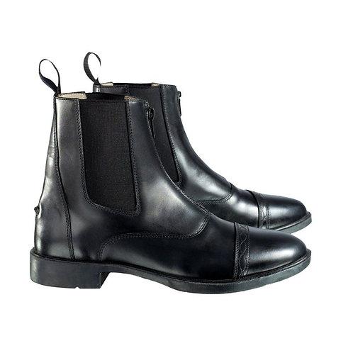 Horze Front-Zip Leather Jodphur Boot