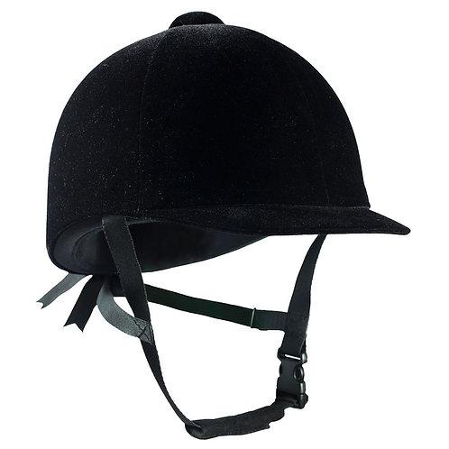 Horze Velvet Helmet Black