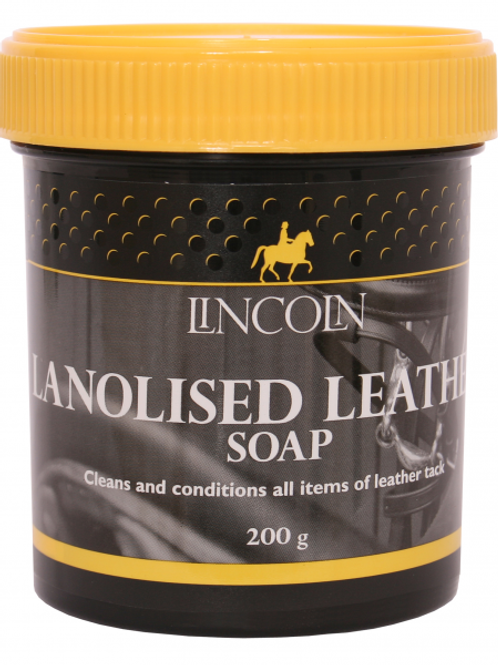 Lincoln Lanolised Leather Soap  200g