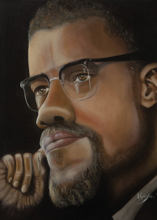 Malcolm X in Contemplation, 2017