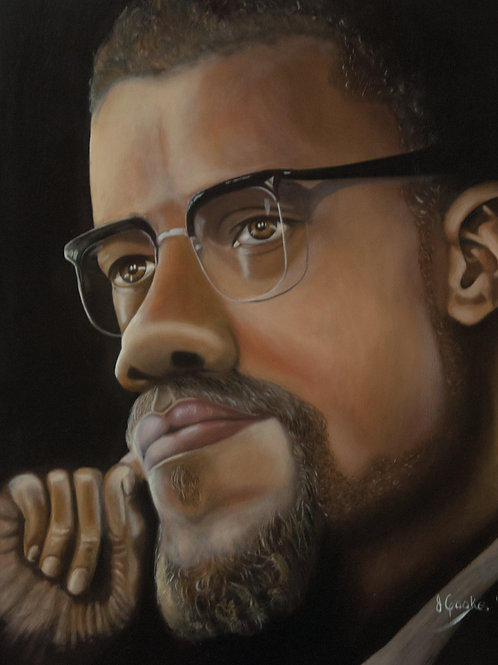 I Am Activist: Malcolm X - Contemplation, 2017. JACooke