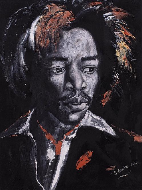 Inspirational Artists: Jimi - Jimi Hendrix, 2020. JACooke