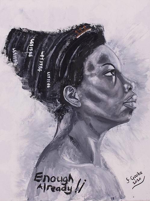 Inspirational Artists: Nina Simone, 2020. JACooke