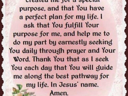 Today's Prayer Message