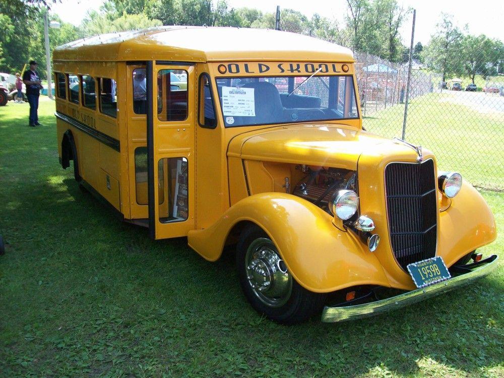 Custom Street Rod School Bus