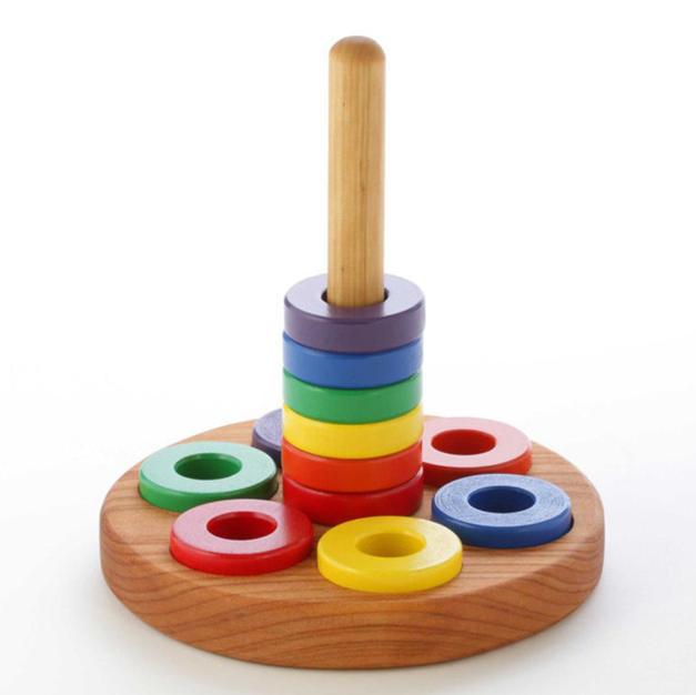 Etsy Papa Dons Wooden Toys Montessori Round Stacker