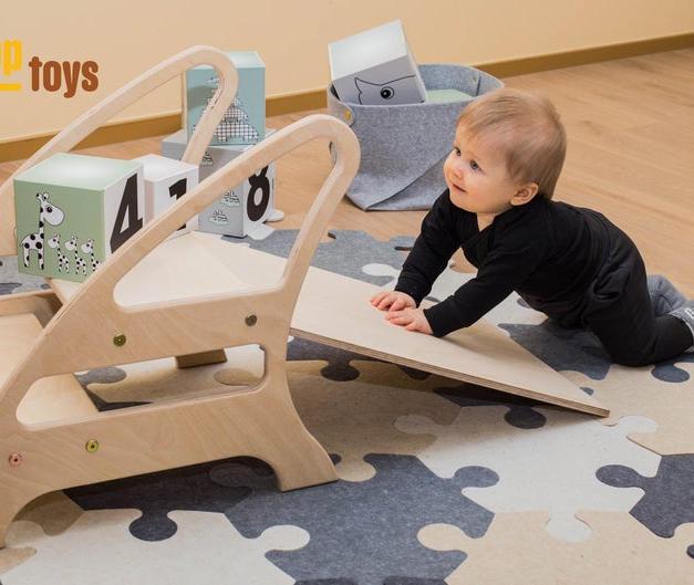 Etsy CLIMBupTOYS Step N Slide , Sliding toy for baby