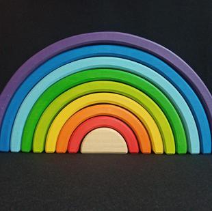 Etsy Wooden Educational Toy Large Rainbow