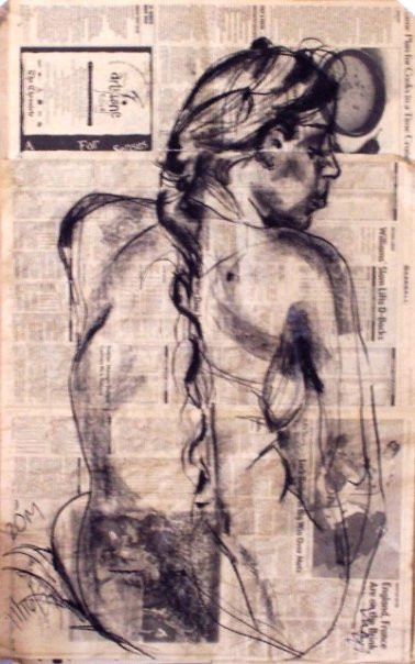 First newspaper drawing 2000 -pvt collection