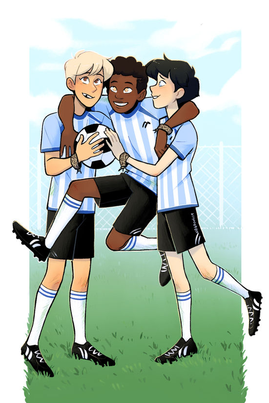 Aiden, Mikael and Allan