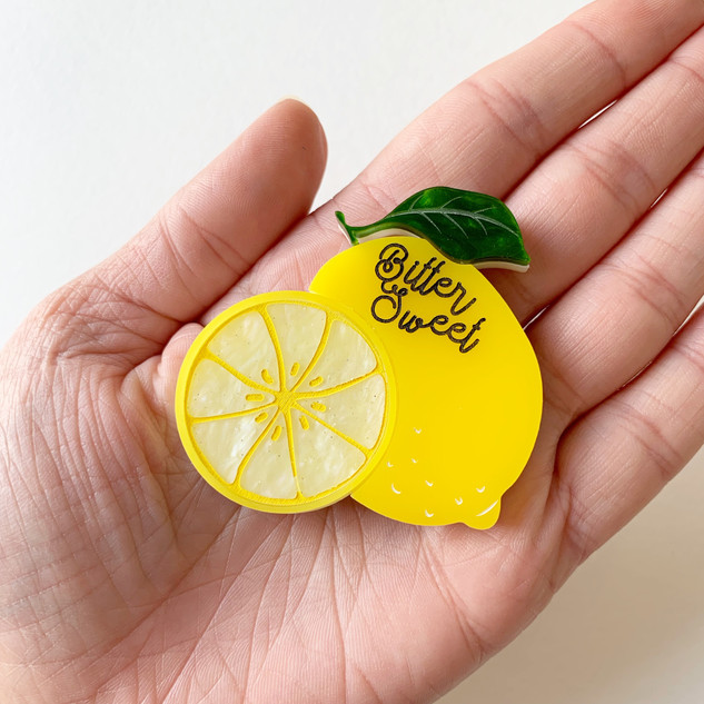 Bitter Sweer Lemon Brooch