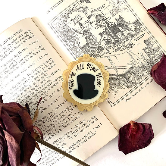 *Seconds Sale* Madhatter Cameo Brooch Pre-Order