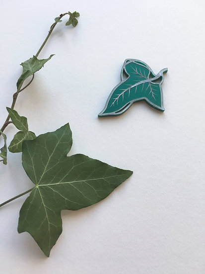 The Greenleaf Brooch *Silver Detail* - Ships by 17th May