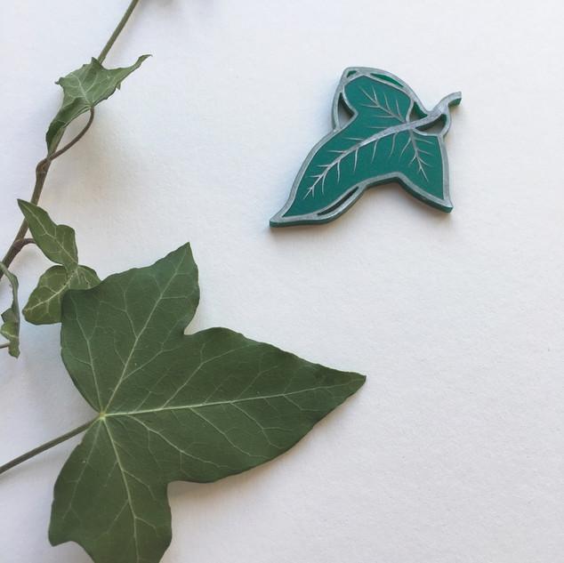 The Greenleaf Brooch *Silver Detail*