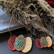 The Dragon Egg Trio Necklace in Large and Small