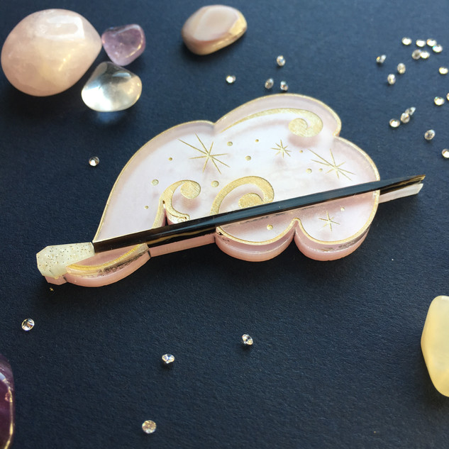 Pink Magic Wand Brooch