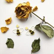 Bumblebee & Flower Earrings