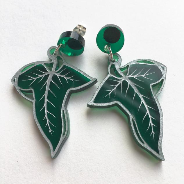 Greenleaf Earrings *Silver Detail*
