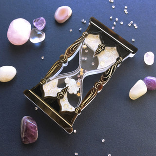 The Night & Day Hourglass Brooch