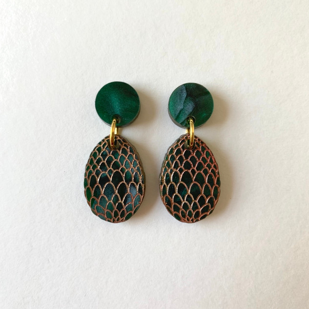 The Green Dragon Egg Earrings