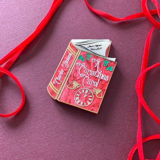 A Christmas Carol Book Brooch