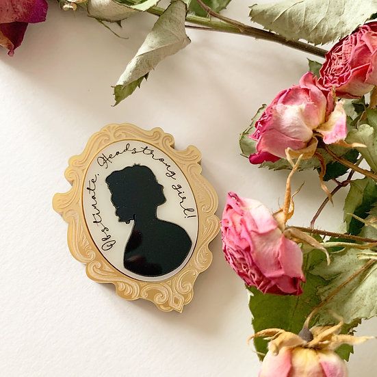 *Seconds Sale* Headstrong Girl Cameo Brooch