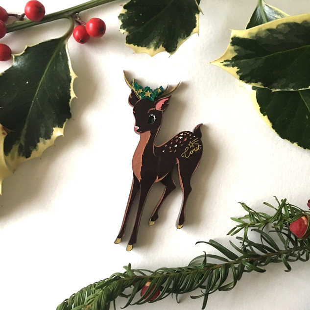 Comet the Reindeer Brooch