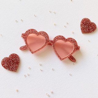 Pink to Make you Wink Spectacles Brooch
