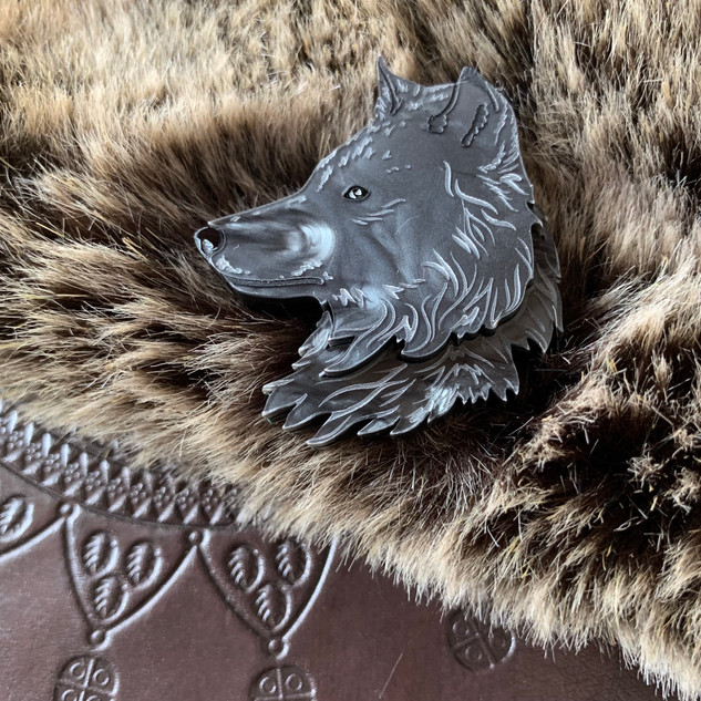 The Lone Wolf Brooch