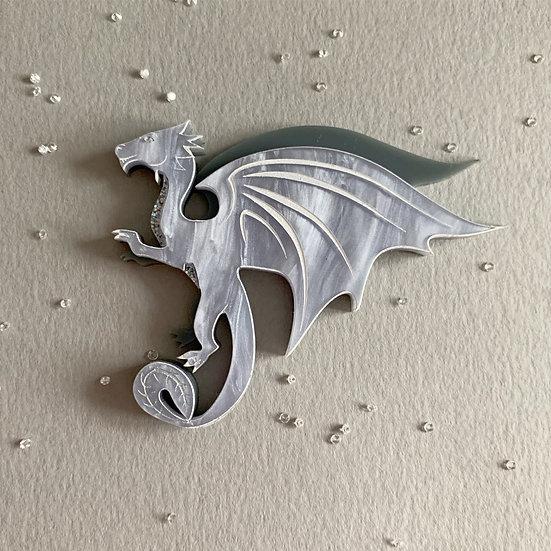 *Seconds Sale* Ice Dragon Brooch