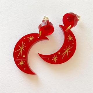 Red Moonshine Earrings