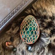 The Green Dragon Egg Brooch