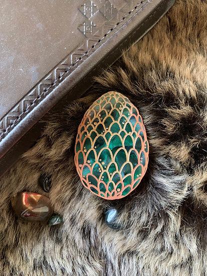 *Seconds Sale* Green Dragon Egg Brooch