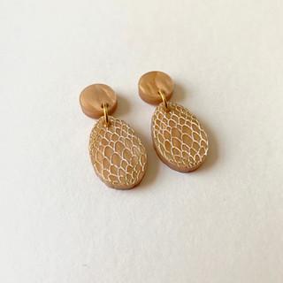 The Gold Dragon Egg Earrings
