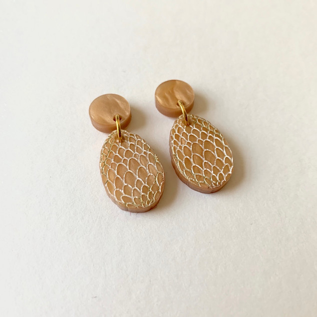 The Gold Dragon Egg Earrings