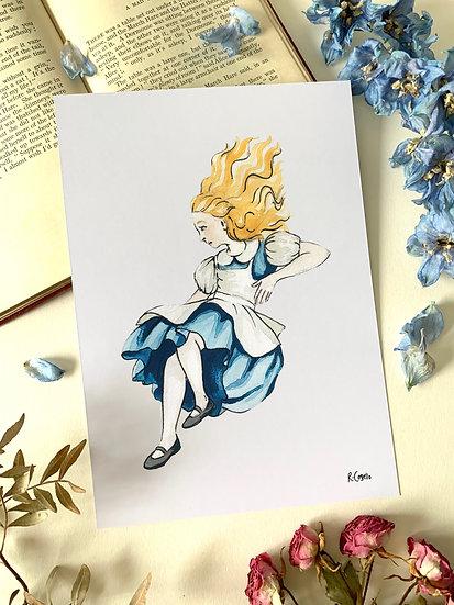 Alice - A5 Art Print