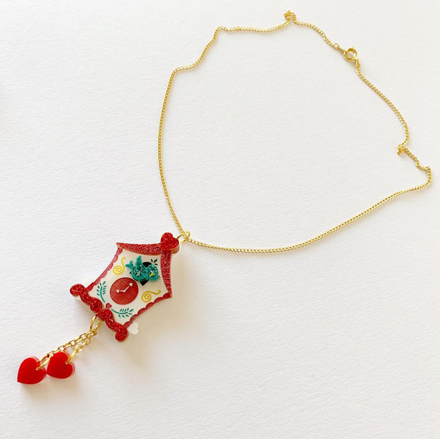 The Lovers Clock Necklace