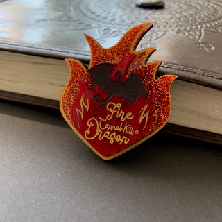 Fire and the Dragon Brooch