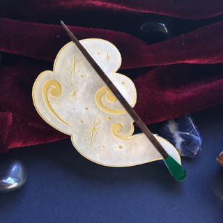 Ivory Magic Wand Brooch