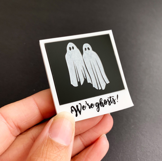 Ghostly Photograph Brooch