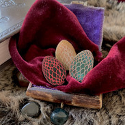 The Trio of Dragon Egg Brooches