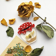 The Honey Pot brooch that is part of the