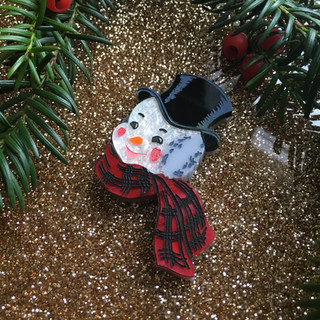 Mr Jolly Snowman Brooch