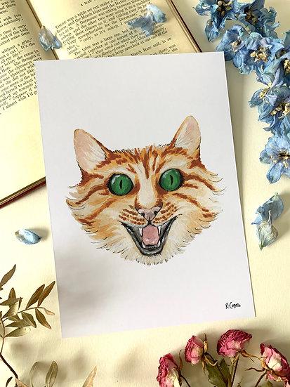 Cheshire Cat - A5 Art Print