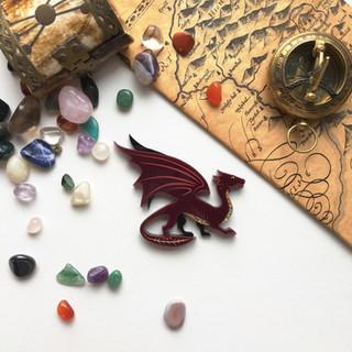 Treasure Dragon Brooch